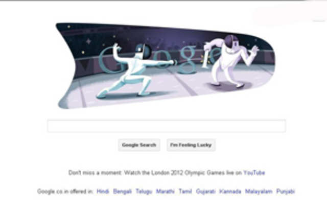 Google, on Monday, displayed its fourth consecutive doodle to extend its support to London Olympics 2012.