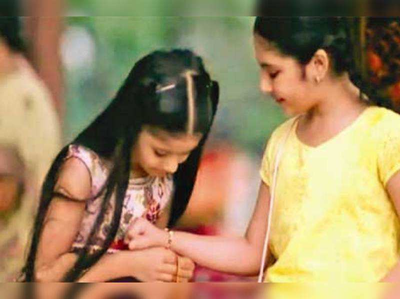 Now, sisters too tie each other a rakhi