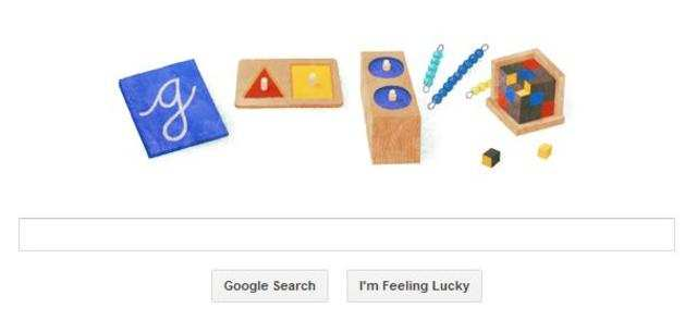 Google, on Friday, displayed an attractive doodle to mark the 142nd birth anniversary of Maria Montessori.