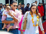 Star couple Lara Dutta and Mahesh Bhupathi's first public appearance with Saira