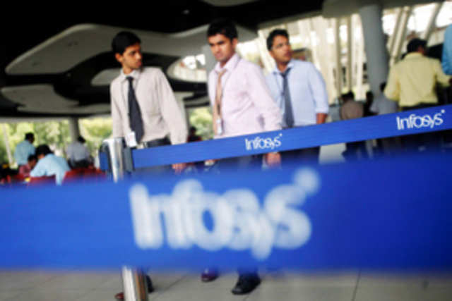 Infosys maintained its revenue growth forecast for the year at 5% and lowered its guidance for earnings per share to Rs 160.6.