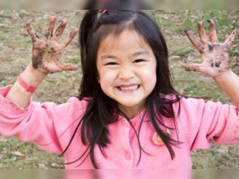 Playing in the mud is good for kids