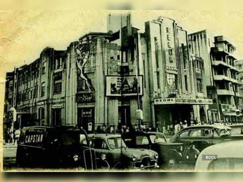A picture of Regal cinema dated 1956 published in Bombay Deco by Sharada Dwivedi and Rahul Mehrotra (Emminence Design)