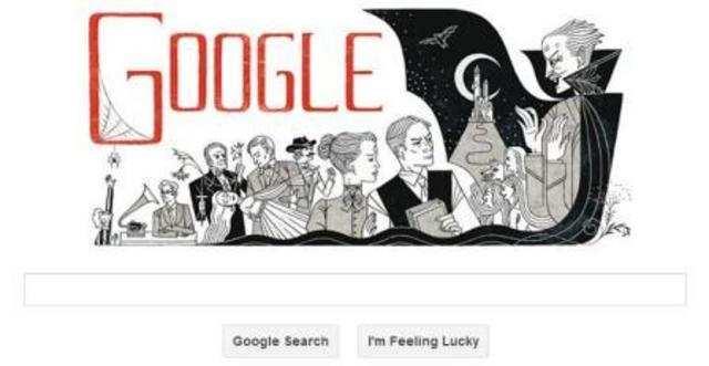 "Google, on Thursday, celebrates Abraham ""Bram"" Stoker's 165th birthday with a fascinating Bram Stoker books doodle."
