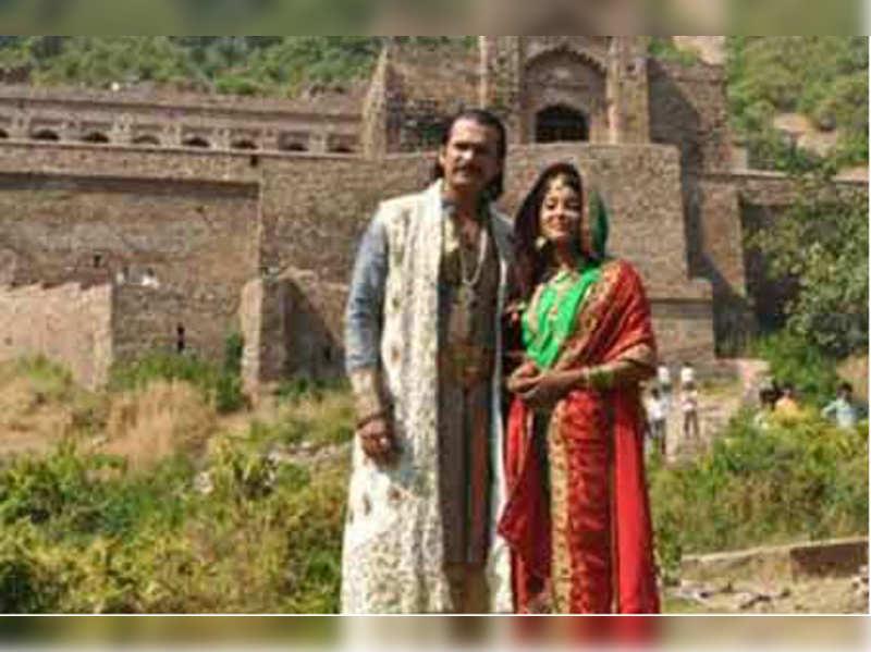 Ulka Gupta and Sameer Dharmadhikari at Bhangarh Fort