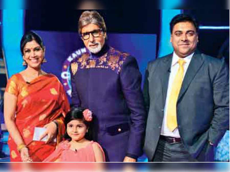 Sakshi Tanwar, Amitabh Bachchan, Ram Kapoor and Amrita Mukherji on the sets of KBC