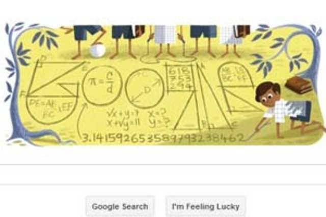 Google has marked the 125th birth anniversary of Indian mathematician Srinivasa Ramanujan with a doodle.