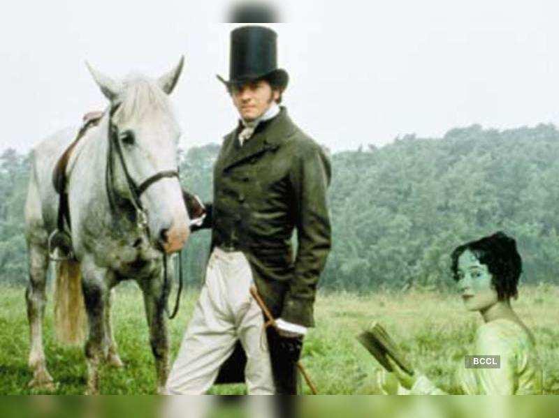 Colin Firth as Mr Darcy and Jennifer Ehle as Elizabeth Bennet