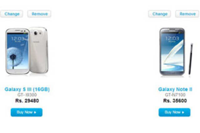The two flagship phones of Samsung – Galaxy Note II and Galaxy S III – are available at prices that are much lower than their official cost.