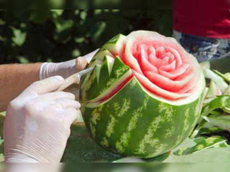 How about a fruit carving for your dinner party? (Thinkstock photos/Getty Images)