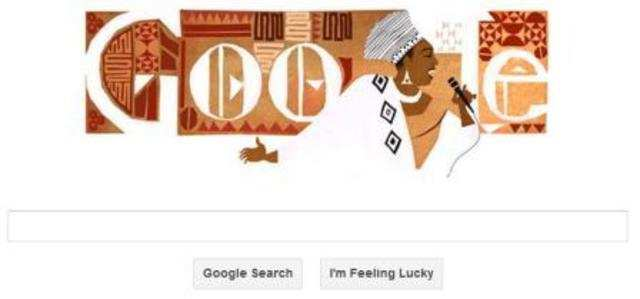 Google on Monday commemorated the legendary South African singer and civil rights activist Miriam Makeba with a colorful doodle.