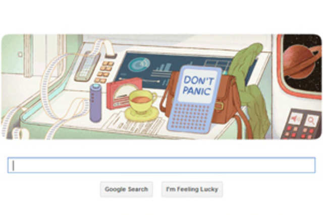 Google today is celebrating noted author and humorist Douglas Adams' legacy and life with an international Google doodle.
