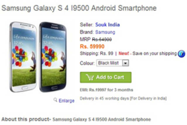 Samsung has not yet announced the official price of Galaxy S4, but leaks, speculation and even pre-orders in India have already started.