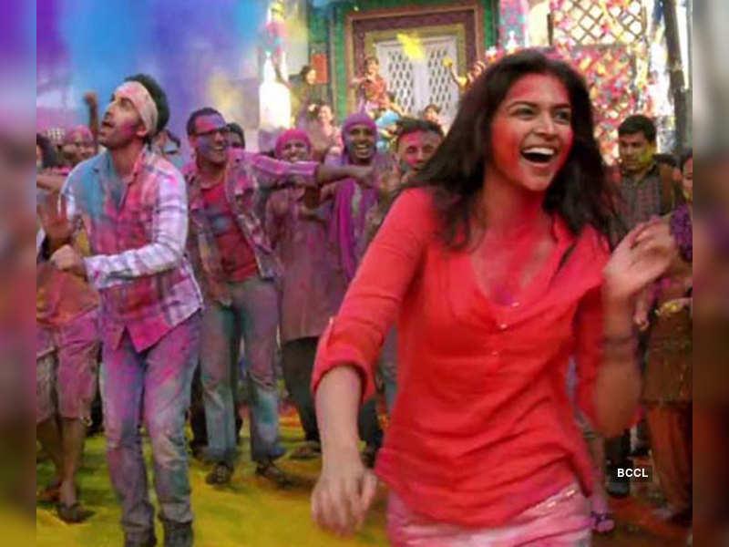 Ranbir Kapoor and Deepika Padukone in a still from the ...