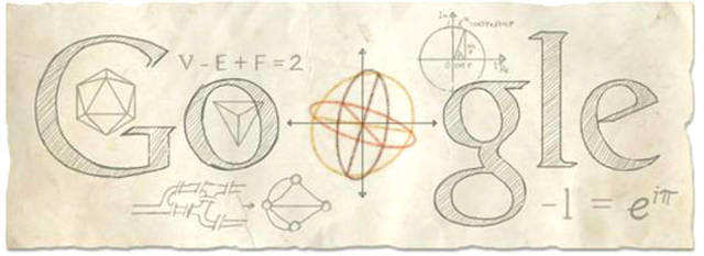 Google commemorates Leonhard Euler's 306th birth anniversary with an animated Google doodle