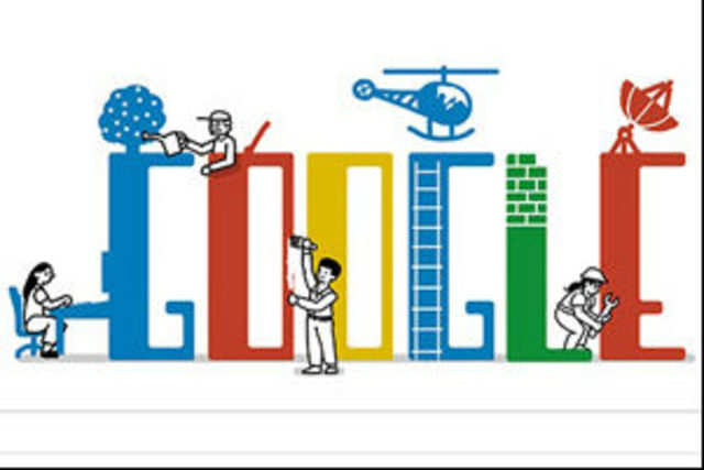 Google has celebrated the occasion of International Labour Day with a doodle on its home page.