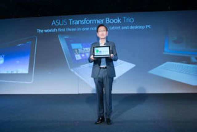 Asus today unveiled a host of devices, including a tablet that can be converted into a laptop as well as a desktop.