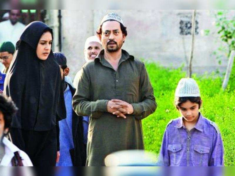 Irrfan chooses on-screen wife and son