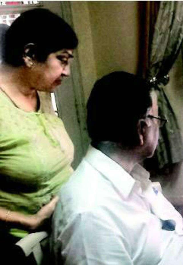 Amita and Deepak Raut, who had sleepless nights after Sanyal sent them FB friend requests.