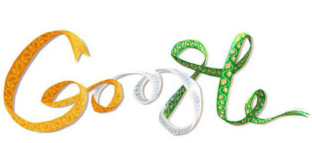 Google, which celebrates global events with a signature doodle, created one on August 15 with paisley ribbons in the colours of the Indian tricolour.