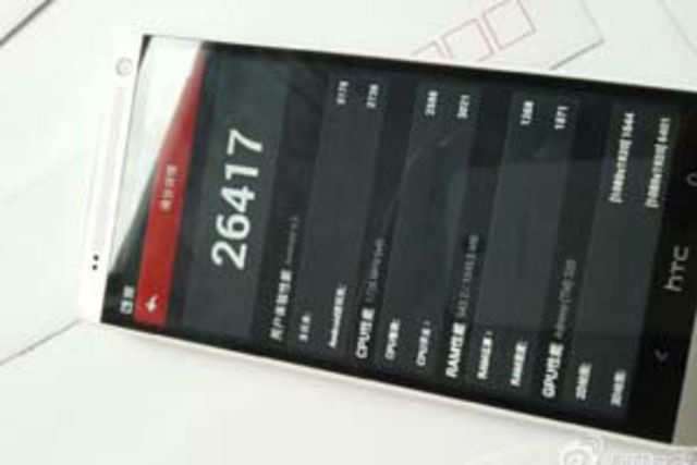 New images of the HTC One Max phablet leaked online raising speculations about its specs with other key tablets in the market. Image courtest: weibo.com/tdzhijia