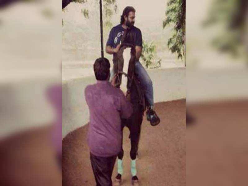 Prabhas horse riding pic