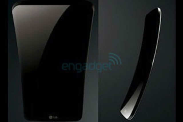 Leaked press shots of LG G Flex show that the model will look quite different from Samsung's Galaxy Round.  Image courtesy: Engadget