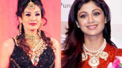 Shilpa Shetty at Raveena Tandon's store launch