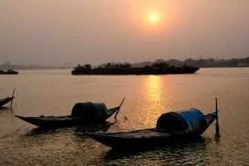 The Hooghly river and ghats