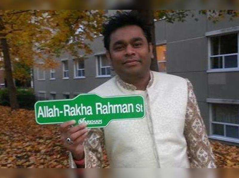 Street named after A R Rahman in Canada