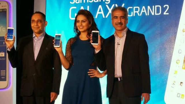 Samsung has unveiled the Galaxy Grand 2 phablet in the Indian market. It will be available in January and cost less than Rs 25,000.  Image courtesy: Twitter.com/SamsungMobileIN