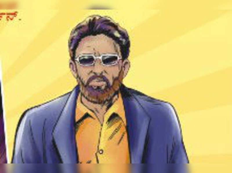 Vishnuvardhan comes alive as a comic character