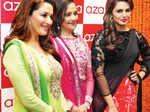Madhuri, Huma @ AZA store launch
