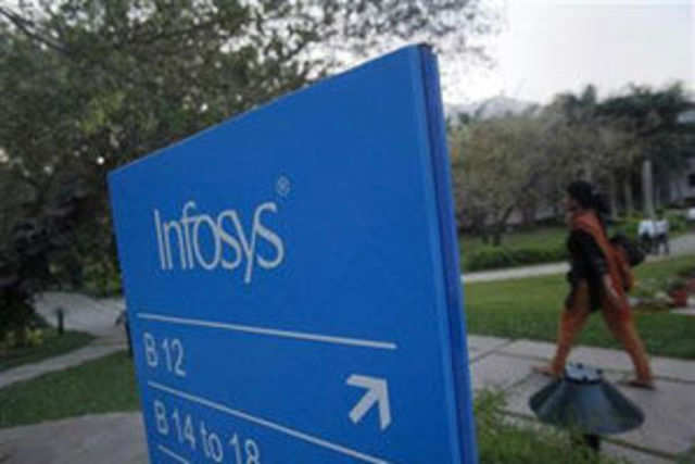 Infosys said that revenues from its largest vertical financial services and insurance sector grew 2% sequentially.