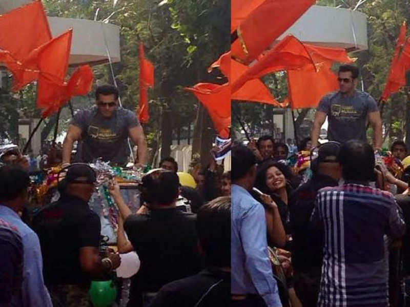 Salman enters Dance India Dance sets in a Rickshaw!