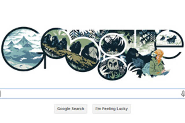 Google has celebrated famed American zoologistDianFossey's82ndbirthday with a doodle on its home page.