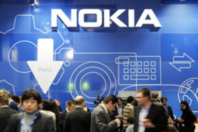 Nokia, which is selling its handset division to the US technology giant for $7.4 billion, said that the unit's sales fell 29%.