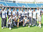 Celebs at CCL match in Dubai