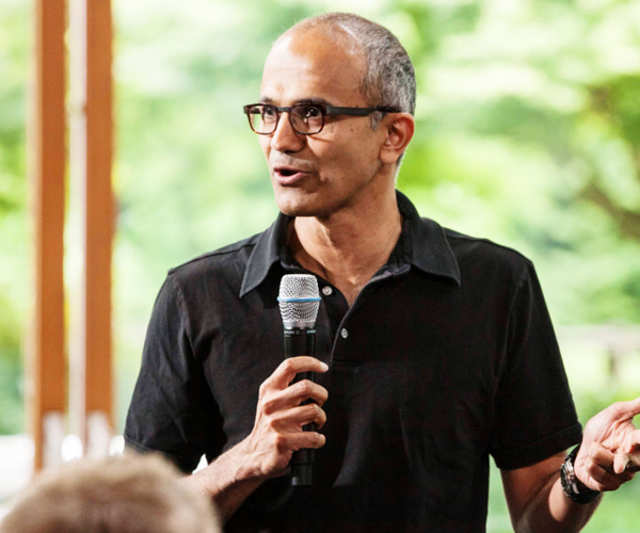 The appointment of Satya Nadella as Microsoft's third CEO was cheered by the employees of the tech giant's office in Gachibowli, where excitement was palpable.