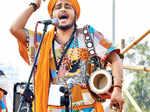Folk beats in a musical event
