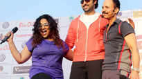 Spotted: Abhishek Bachchan at a marathon to promote girl child education