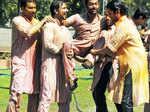 Politicians celebrate Holi in Delhi