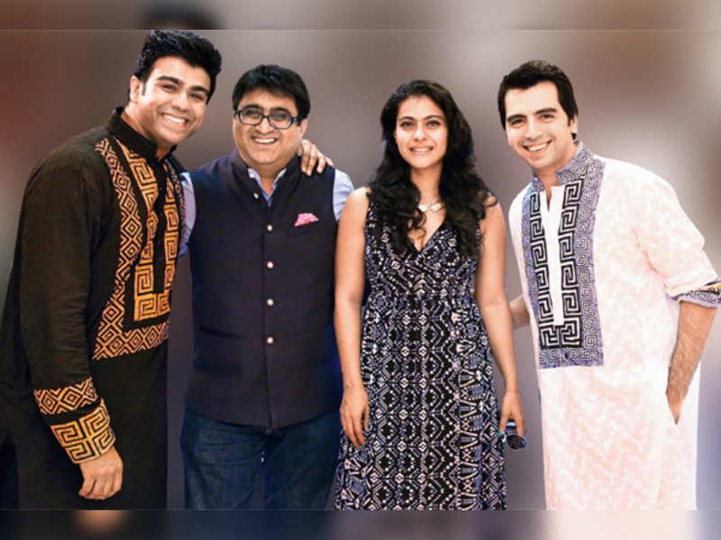 Junaaid, Pradeep Hirani, Kajol and Arhhan Singh