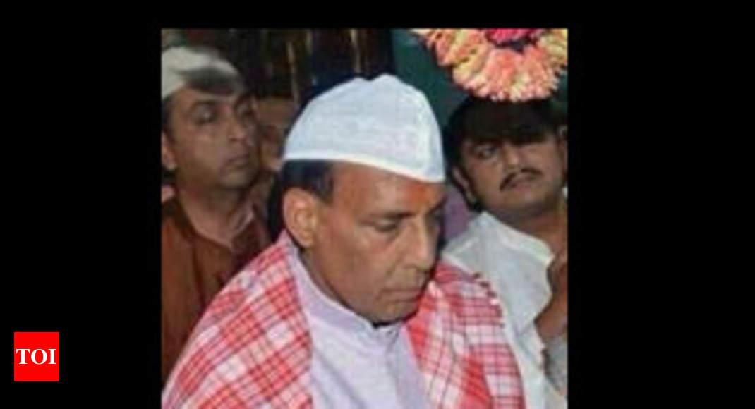 c91171f29b8 Rajnath Singh wears skull cap to enhance  acceptability  - Times of India