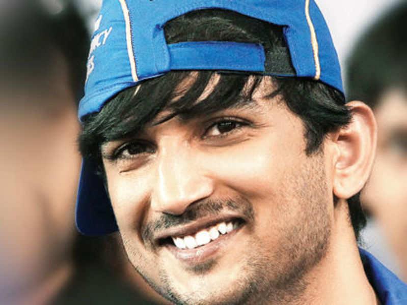 Sushant Singh Rajput, the brand ambassador of Garnier MEN at an IPL match in Ahmedabad