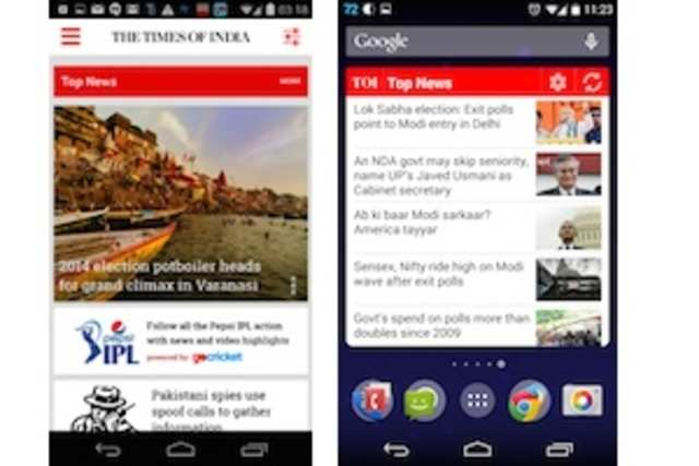 Timesofindia.com has released version 3.0 of its iPhone and Android app.