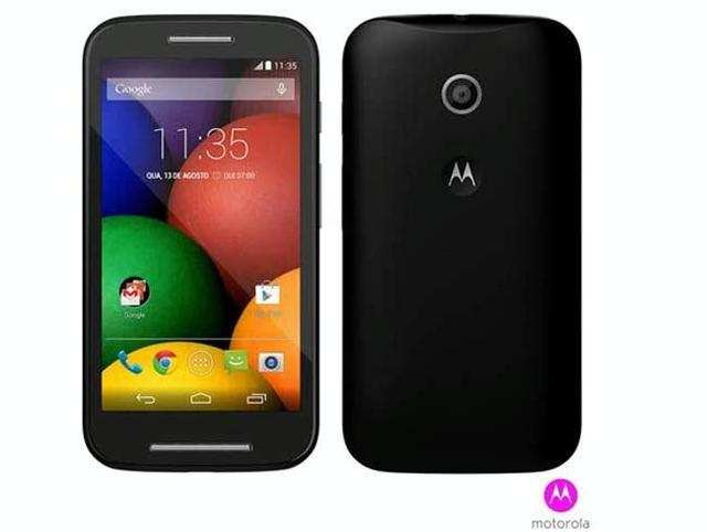 Motorola's economy smartphone, Moto E, which was launched on Tuesday, is out of stock onFlipkart.