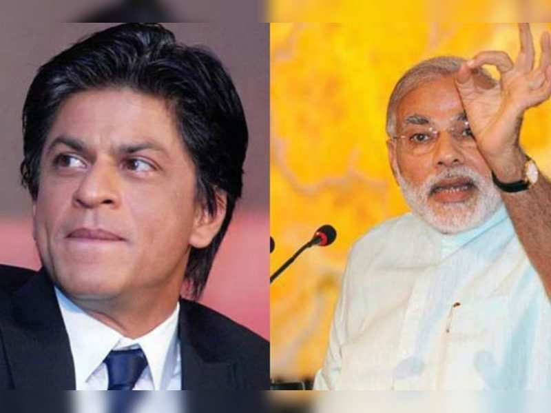 Shah Rukh Khan and Narendra Modi