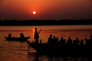 Boats on the Ganga