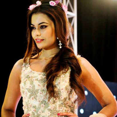 Miss Asia Pacific Srishti Rana at a cancer awareness event